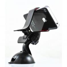手机支架鸭嘴360度旋转夹子车载手机夹导航支架