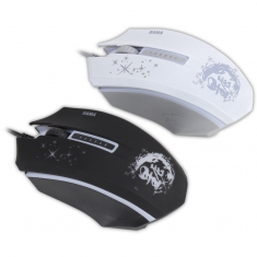 先马星辰V3 台式机电脑笔记本鼠标 办公网吧游戏鼠标USB有线混发