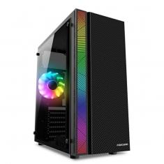 富士康幻影ATX大板游戏机箱RGB灯条水冷上置电源支持背线DIY机箱