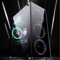 金河田炫豪3台式机电脑机箱游戏水冷大板ATX/MATX背线侧透主机箱